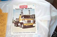 Showroom brochure 71 GMC Astro 95 69 70 71 72 NOS GMC Semi tractor 18 wheeler