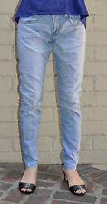 J Brand Krys Omaha Light Blue Stretch Denim Jeans 25 USA Skinny Baggy