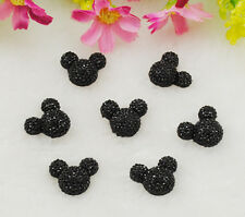 20pcs Resin Black Mouse Flatback Scrapbooking For Phone/Wedding/Craft Nice Chic