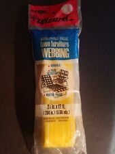 New Vintage Western Auto Wizard 2 1/4 by 17 foot yellow lawn furniture webbing