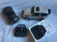 Tamiya Vintage Volkswagen Beetle + Mitsubishi PAJERO both working + assembled