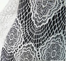 white french style eyelash bridal lace fabric width 150cm sold by meter