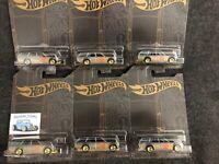 Hot Wheels - Lot of Six (6) 2019 - Satin & Gold  - '71 Datsun 510 Wagon Lot