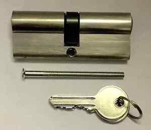 Euro Cylinder Locks, Various Sizes, 5 Pin Aluminium With 3 Keys