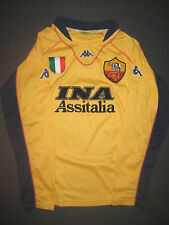 Authentic 2001 Kappa AS Roma Home Jersey Shirt Kit Maglia Totti Calcio Maglia
