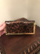 Tory Burch Tortoise Leopard Clutch Eyeglasses Sunglasses Case Magnetic Holder