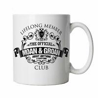 Moan & Groan Club Taza - Regalo para Él Papá Abuelo, Día de Padres, Cumpleaños