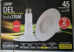 LED Retrofit Kit, Dimmable, 4-In., 9-Watts, 2-Pk.