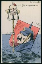 art Orens Germany royalty Kaiser caricature politica c1905 postcard lot set of 5