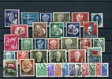 DDR gestempeltes Lot 1950er Jahre auf zwei Steckkarten - b5448