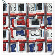 PS3 Dualshock Controller Wireless 100% compatible Color black blue red bulk pack