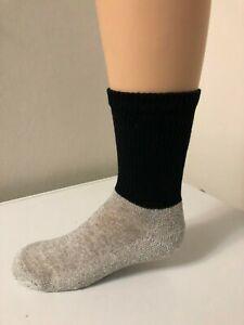 *** 6 Pair Boy's or Girl's Heavy Thermal Athletic Crew Socks 6-8 ***