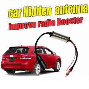 12V Silver Vehicle Hidden Aerial Amplifier Strengthen Reception of AM/FM Radio