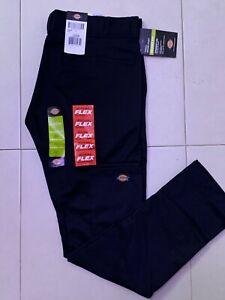 Dickies Mens Flex Skinny-Straight Fit Work Pant 34W Black *NEW*