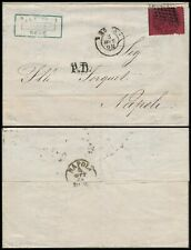 ITALY 1868, PAPAL STATE 20 c VALUE, ENTIRE FOLD COVER TO NAPOLI.   #Z153