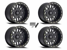 "Method 406 Beadlock ATV 14"" Wheels Rims Black 14x8 4+4 King Quad 750 700 500"