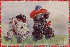 Scottish & West Highland Terrier 1930s F. Valter LARGE New Blank Note Cards