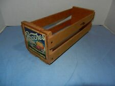 Vintage Peaches Records & Tapes Wood Storage Crate