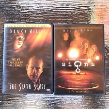 Thriller Movies Signs & The Sixth Sense Dvd Mel Gibson Bruce Willis Pre Owned