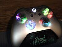 Limited Edition Phantom Black Xbox One Controller w LED MOD Halo COD APEX