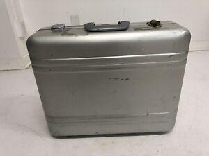 Vintage ALUMINUM BRIEFCASE Zero Halliburton laptop bag metal industrial suitcase