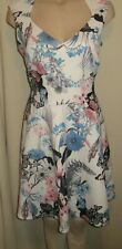 LADIES GORGEOUS BLACK WHITE BLUE PINK PARTY DRESS SIZE 16 UK BY SIMPLY BE