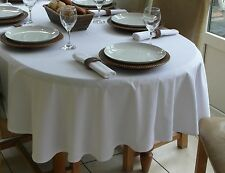 """150X260CM (59X102"""") OVAL WHITE COTTON TABLECLOTH - 8 SEATER*"""