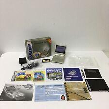 Starlight Gold Game Boy Advance SP With Super Mario Advance 4 Complete In Box !!