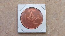 Masonic Lodge copper round series - 1 ADVP oz. .999 fine copper