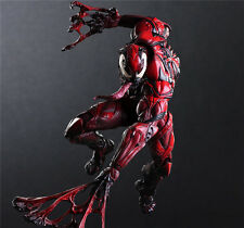 Play Arts Kai Marvel Spider Man Red Venom Action Figure Variant Model Toy Doll