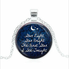Star Light Star Bright Tibet silver Glass dome Necklace chain Pendant Wholesale