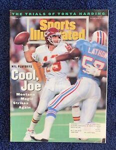 1.24.1994 JOE MONTANA Sports Illustrated KANSAS CITY CHIEFS - TONYA HARDING