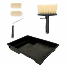 5pc Shed Fence Wood Decking Roller & Brush Painting Set Paint Decorating Kit