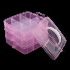 3 Tiers Handheld Large Storage Box Case Nail Art Makeup Organizer Portable