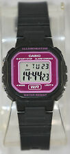 Casio LA-20WH-4A Ladies Black Pink Digital Watch with LED Light 5 Year Battery