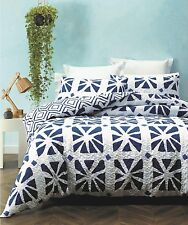 San Remo Lightly Quilted Duvet Doona Quilt Cover Set Phase 2 | Easy-Care | King