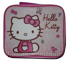 Girls Lunch Box Insulated Hello Kitty Pink