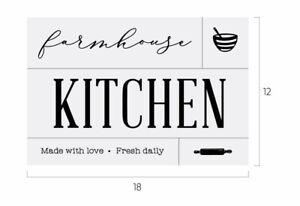 New Farmhouse Kitchen Chalk Couture Transfer