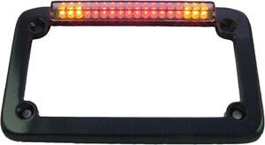 Sdc Led License Plate Frame Black W/Turn Signals 02603