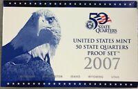 2007 S State Quarter Proof Set W. Box & COA