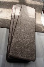 29.5x8.50inches(75x22cmX12  BROWN FLECK THICK PILE  STAIR PADS #5116