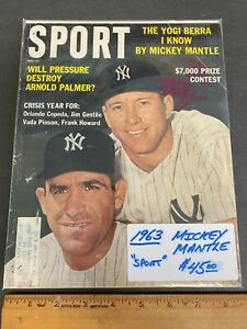 1963 MAY *SPORT* MAGAZINE *MICKEY MANTLE* COVER NEWSSTAND (MS) 91021
