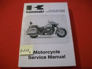 KAWASAKI VULCAN 1600 NOMAD & VN 1600 CLASSIC TOURER SER MAN #99924-1343-01 2005