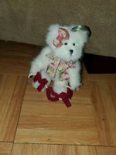 Boyds Bear Mom Mother's DayvWhite Plush Jointed Ornament