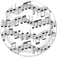 Musical Notes 9 Inch Paper Plates 8 Pack Music Birthday Party Decorations