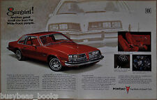 1976 PONTIAC SUNBIRD 2-page advertisement, Pontiac Sunbird Coupe
