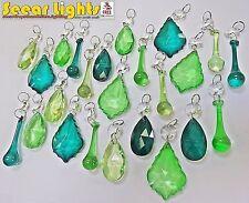 24 antiguo Verde Pavo Real cristales Cristal Elementos árbol de Navidad Cuenta