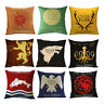 Game Of Thrones Linen Square Pillow Cases Sofa Throw Waist Back Cushion Covers
