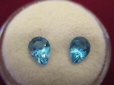 Approx. 65CT, each Natural Swiss blue Topaz 7x5 Pear shape