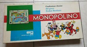 Monopolino Disney Gioco di Società EG Editrice Giochi Anni 80/90
